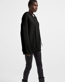 Felted Wool-Cashmere Oversized Hoodie
