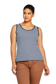 Lands End Women's Plus Size Cotton Tank Top