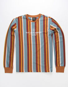 HUF Figueroa Stripe Mens T-Shirt_