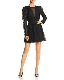 LINI - Gemma Puff-Sleeve Burnout Dress - 100% Excl