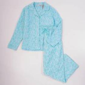 Jasmine Rose Long Sleeve Floral Flannel Notch Coll