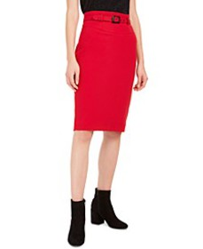 Belted Crepe Pencil Skirt, Created For Macy's