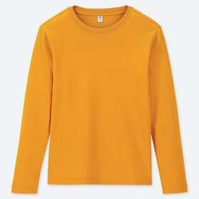 KIDS SOFT TOUCH CREW NECK LONG-SLEEVE T-SHIRT, YEL