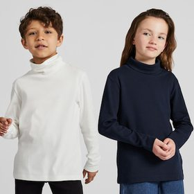 KIDS SOFT TOUCH TURTLENECK LONG-SLEEVE T-SHIRT, WH