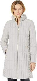 Bernardo Fashions Quilted Channel Walker with Knit