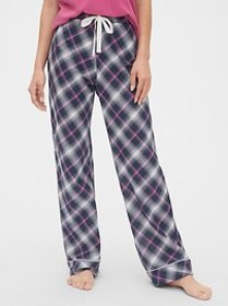Print Pajama Pants in Poplin