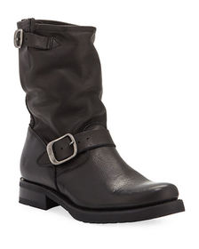 Frye Veronica Short Leather Moto Boots