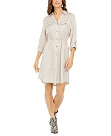 Solid Utility Shirtdress, Created for Macy's