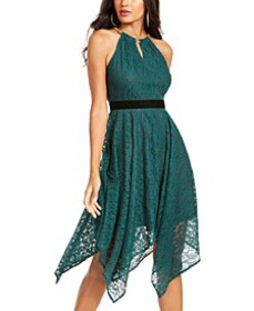 Chain-Neck Lace Dress, Created For Macy's