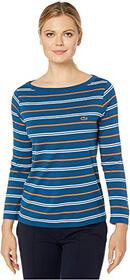 Lacoste Long Sleeve Boat Neck Cotton Modal Clean S