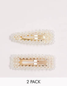 Pieces 2-pack crystal oversized hair clip