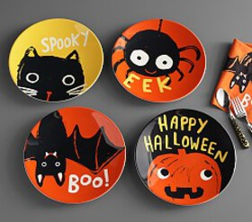 Pottery Barn Halloween Glow-in-the-Dark Plates