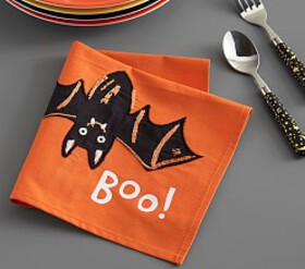 Pottery Barn Halloween Glow-in-the-Dark Bat Napkin