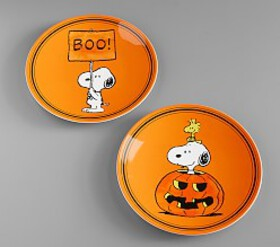 Pottery Barn Charlie Brown® Halloween Plates
