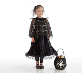 Pottery Barn Light Up Black Spider Queen Costume
