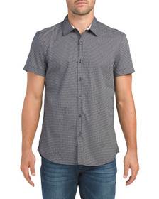 KENNETH COLE NEW YORK Short Sleeve Squares Print S