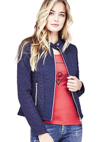 Quilted Logo Jacket