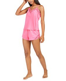 INC Lace-Trim Tank Top & Shorts Pajama Set, Create