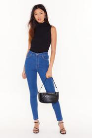 Nasty Gal Mid blue Recyled You Know We're Tight Hi