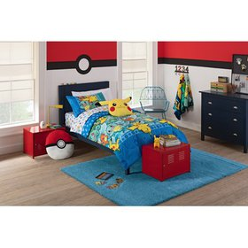"Pokemon ""First Starters"" 4 Piece Twin Bed in a Bag"