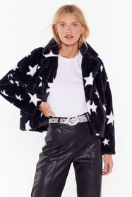 Nasty Gal Black Destined for Stardom Cropped Faux