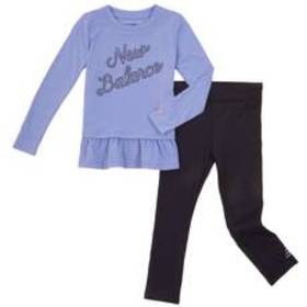 Girls (4-6x) New Balance 2pc. Mesh Hem Logo Top Se