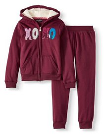 XOXO Sequin Sherpa Performance Hoodie and Jogger,