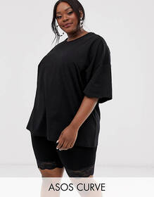 ASOS DESIGN Curve super oversized t-shirt with sea