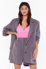 Nasty Gal Grey Ain't Nobody's Business Tailored Lo