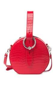 Rebecca Minkoff Kate Embossed Leather Circle Bag