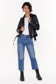 Nasty Gal Mid blue Cut Straight to the Point Cropp