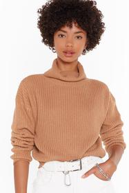 Nasty Gal Biscuit Turn Knit On Turtleneck Cropped