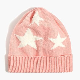 J. Crew Factory Girls' starry knit hat