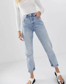 ASOS DESIGN Recycled Ritson rigid mom jeans in lig