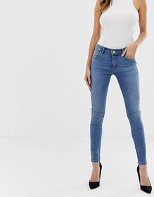 ASOS DESIGN Whitby low rise skinny jeans in mid wa