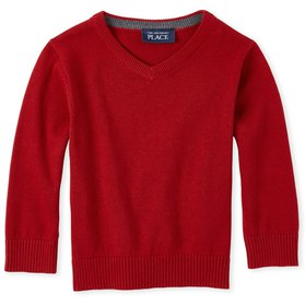Baby And Toddler Boys Matching V-Neck Sweater