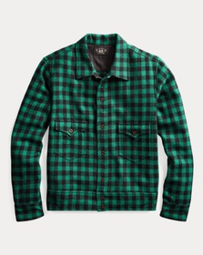 RRL Plaid Wool Overshirt