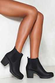 Nasty Gal Black One Night Stand Ankle Boot