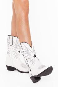 Nasty Gal White Highway to Hell Faux Leather Weste