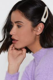 Nasty Gal White A Pearl's Pearl Oversized Hair Cli