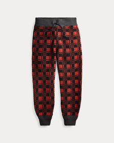 RRL Plaid Fleece Sweatpant