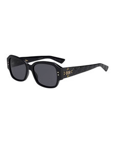 Dior Lady Dior Studs Rectangle Sunglasses