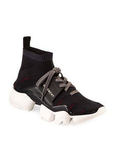 Givenchy Men's Jaw Mixed-Media Runner Sneaker