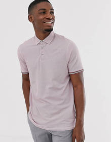 Ted Baker polo shirt with texture and tipping