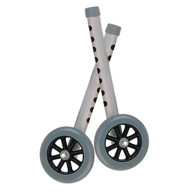 Drive Medical Walker Wheels with Two Sets of Rear