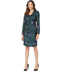 Tahari by ASL Four-Button Jacket and Skirt Set
