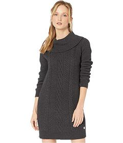 Tommy Hilfiger Cable Knit Cowl Neck Sweater Dress