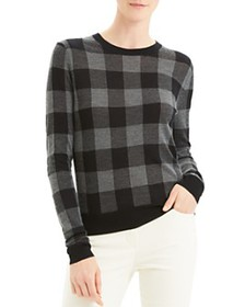Theory - Silk, Cashmere & Wool Buffalo Plaid Crewn