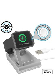 PRESS PLAY One Dock Solo Apple Watch Charger - Sil