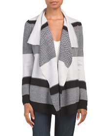 CABLE & GAUGE Open Front Cardigan